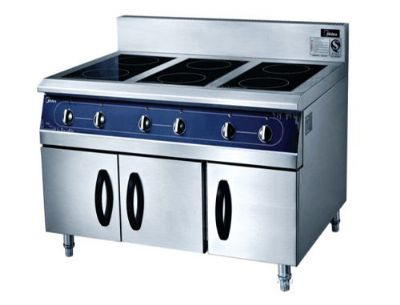 Induction six-pot cooker
